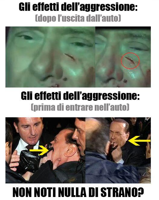 Foto prova falso attentato Berlusconi