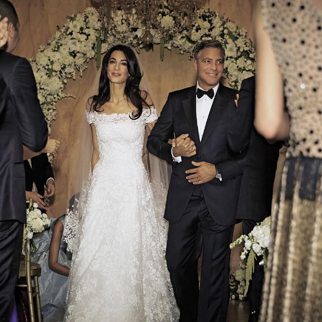 clooney matrimonio foto matrimonio foto sposa nozze george clooney ...